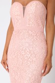 Madison Sweetheart Lace Gown in Blush
