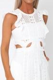 Mischa Cutout Midi Dress in White