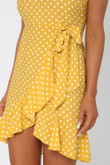 Taking Changes Dress in Yellow