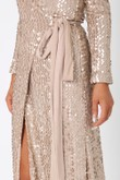 Sahara Sequin Wrap Around Gown in Gold