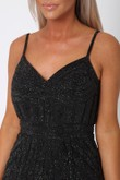 Gatsby Sequin Mini Dress in Black