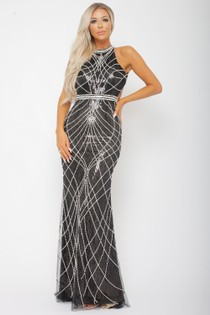 Arianna Long Gown in Black