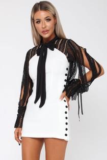 Elle Mini Dress in White