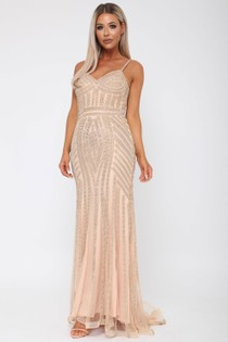 Gatsby Long Gown in Gold
