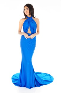 Lilliana Long Gown in Royal Blue