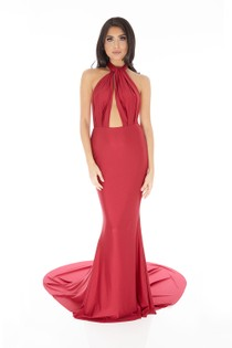 Lilliana Long Gown in Burgundy