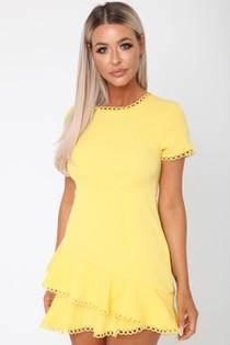 Sunburst Yellow Mini Dress