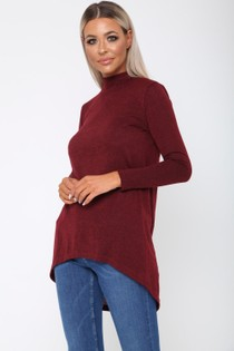 Megan Jumper in Burgundy