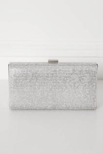 Glitz Clutch Bag in Silver
