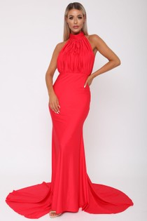 Suzanne Halter Gown in Red