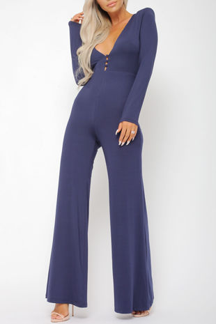 Tona Navy Jumpsuit