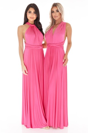 Multiway Dress In Hot Pink