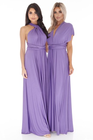 Multiway Dress in Dark Purple