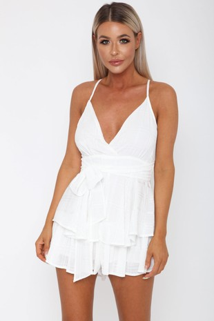 Nancy Playsuit in White