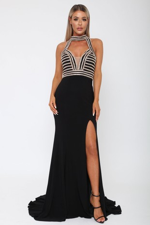 Samanta Long Gown in Black