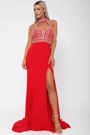 Samanta Long Gown in Red