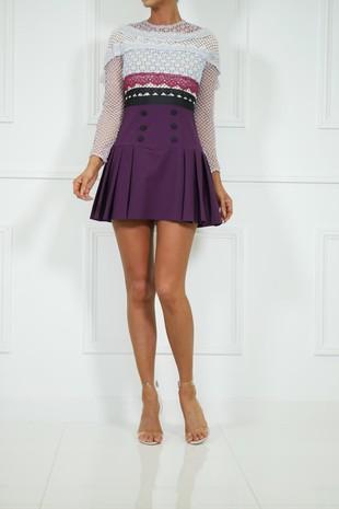 Sherie Lace Trim Mini Dress
