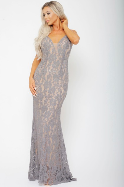Lora Dress in Grey