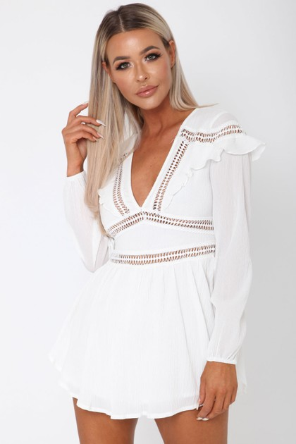 Eden Playsuit in White