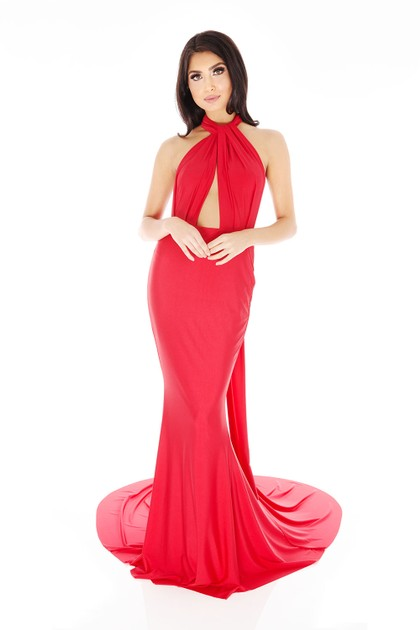 Lilliana Long Gown in Red