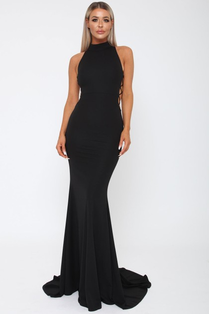 Bella Long Gown in Black