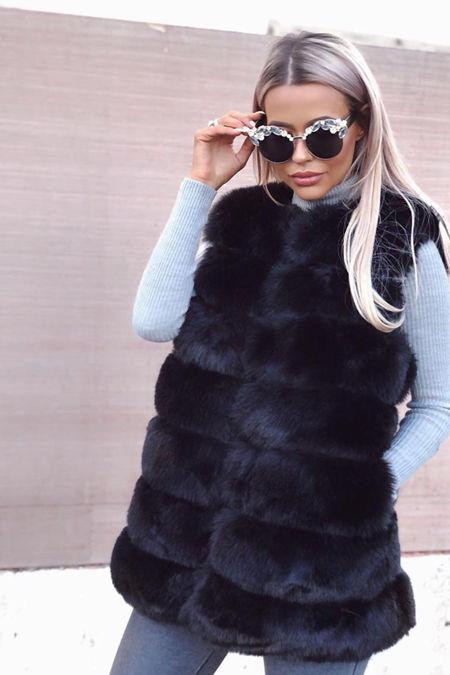 Jelena Gilet in Black