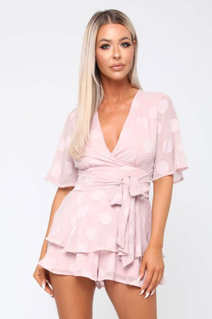 Conna Playsuit in Pink