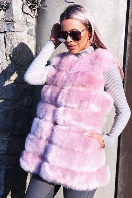 Jelena Gilet in Pink