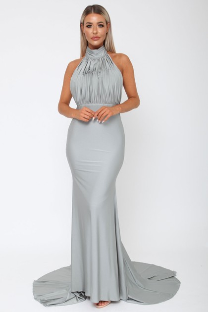 Suzanne Halter Gown in Grey