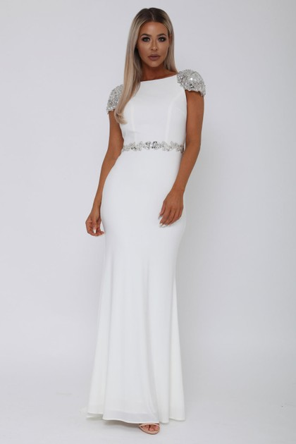 Una Long Gown in White