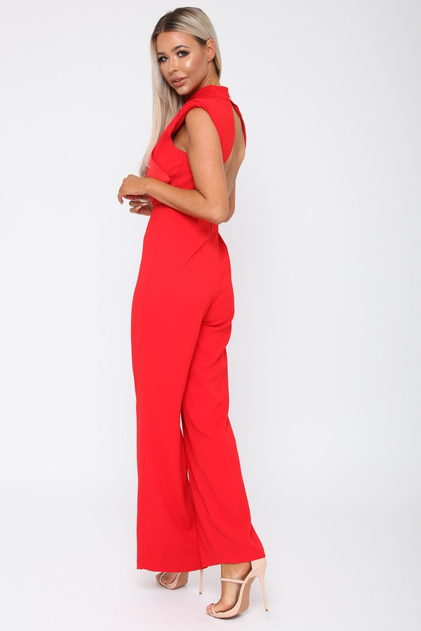 Abbie Jumpsuit in Red