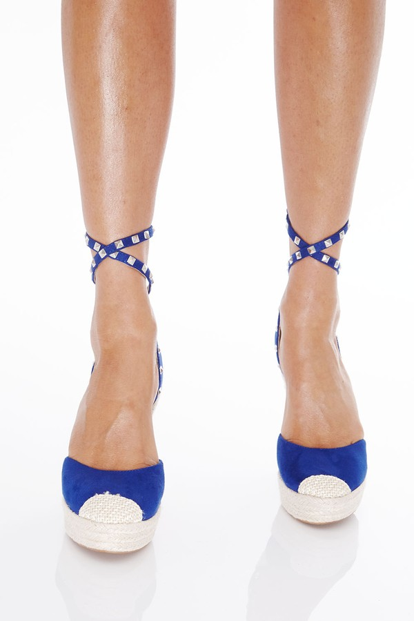 Bohemian Wedges in Blue