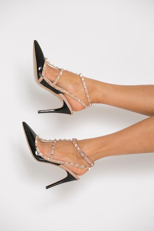 Studded Heels in Black