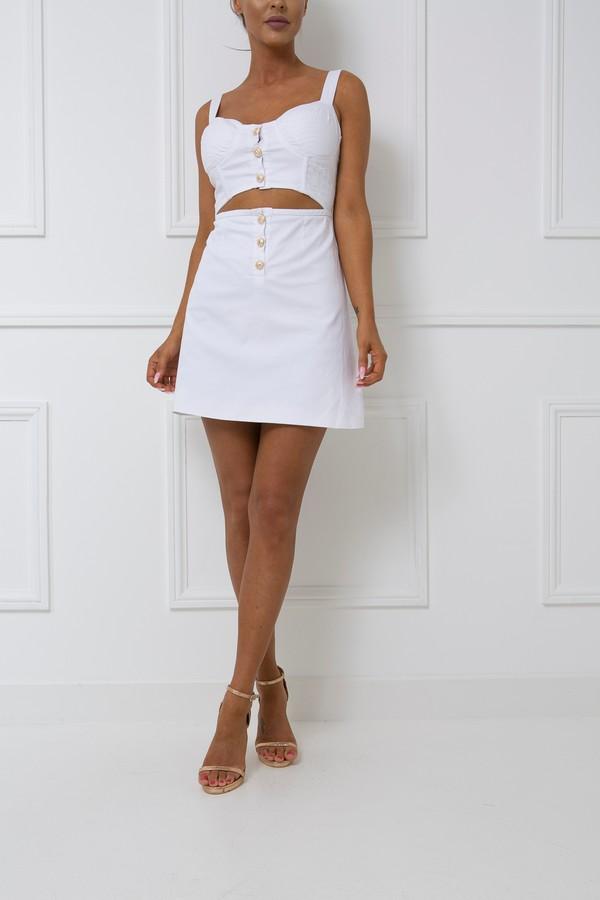 Tobi Two Piece Skirt & Crop Top Set in White