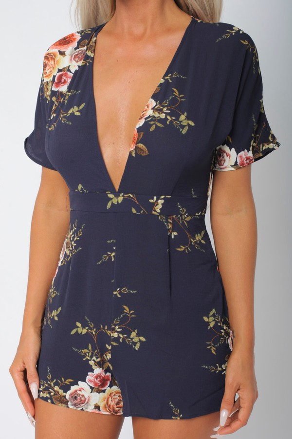 Jayde Playsuit in Navy