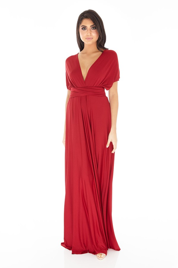 Multiway Dress in Burgundy