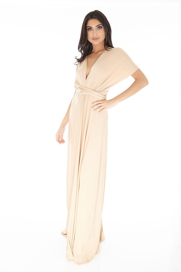 Multiway Dress in Gold