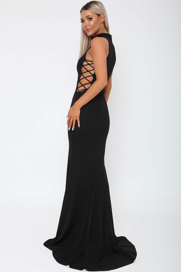 Bella Long Gown in Black