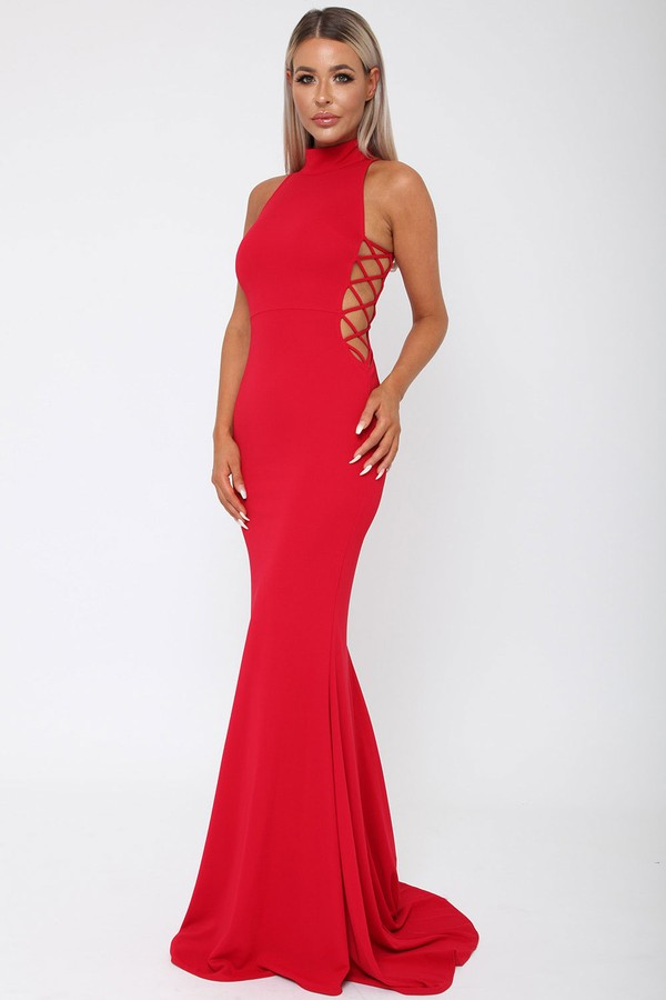 Bella Long Gown in Red