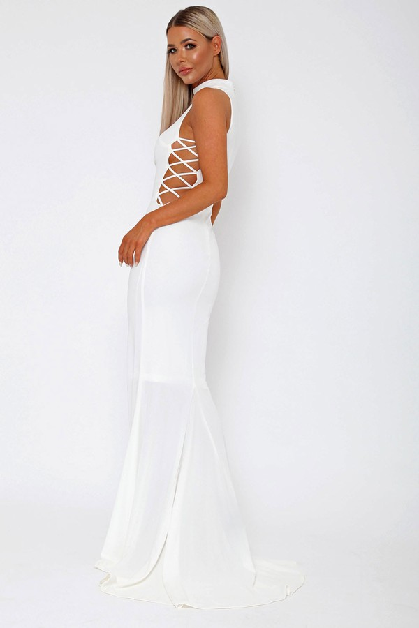 Bella Long Gown in White