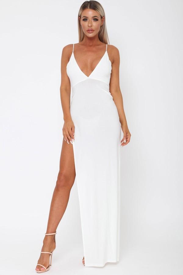 Belinda Long Dress in Ivory