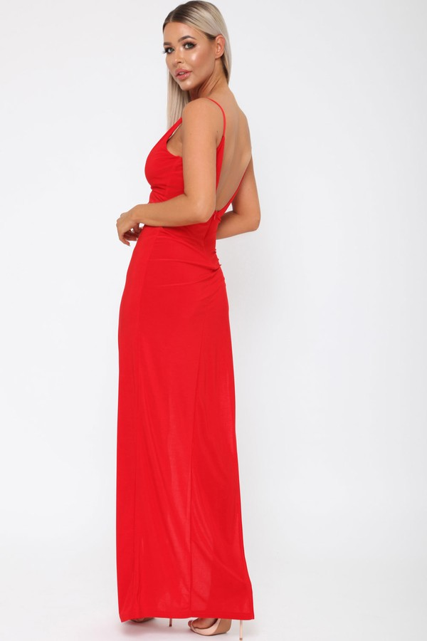 Belinda Long Dress in Red