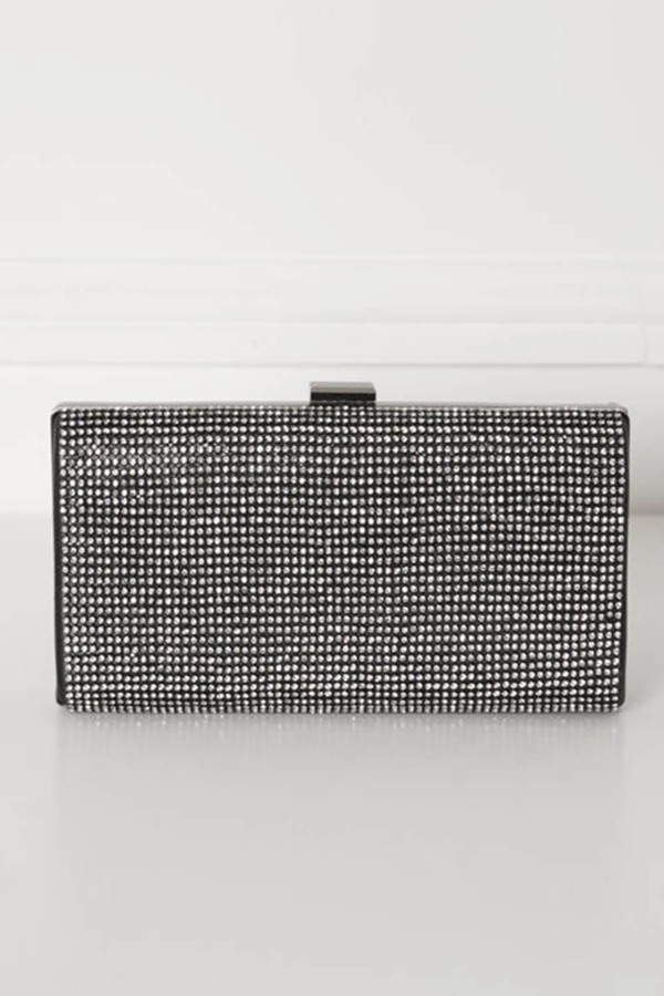 Glitz Clutch Bag in Black