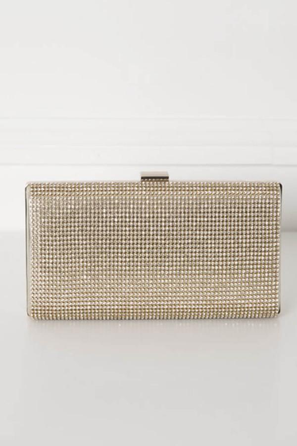 Glitz Clutch Bag in Gold