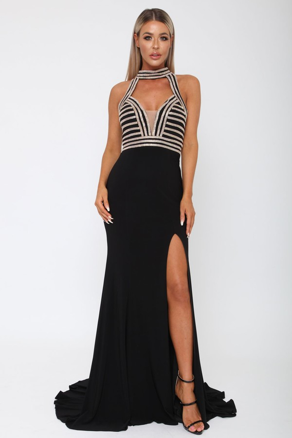 Samanta Long Gown in Black