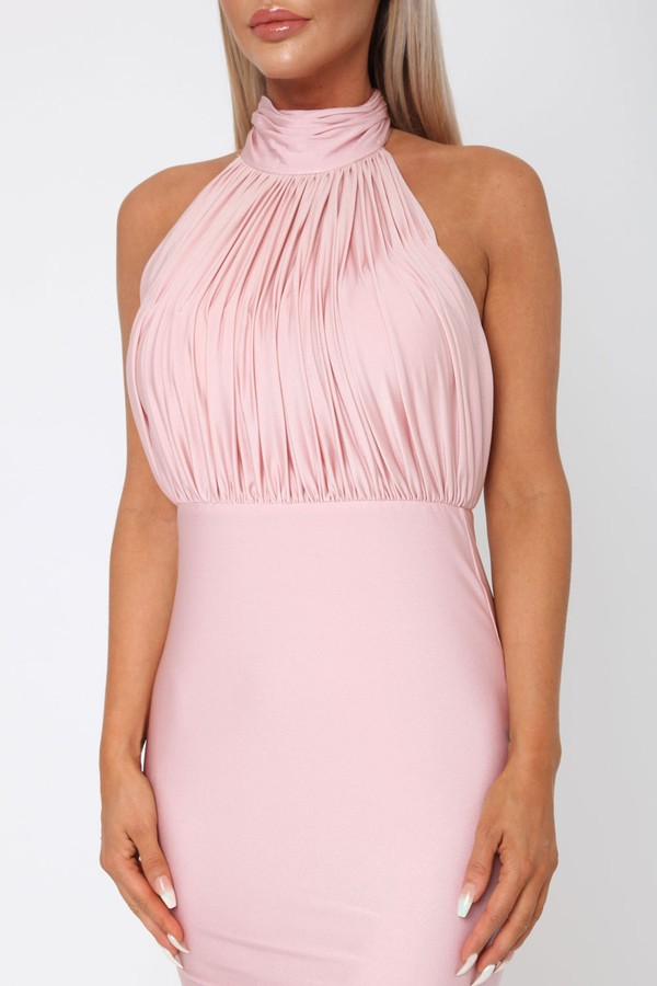 Suzanne Halter Gown in Blush