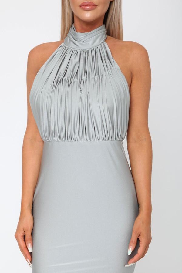 Suzanne Halter Gown in Grey