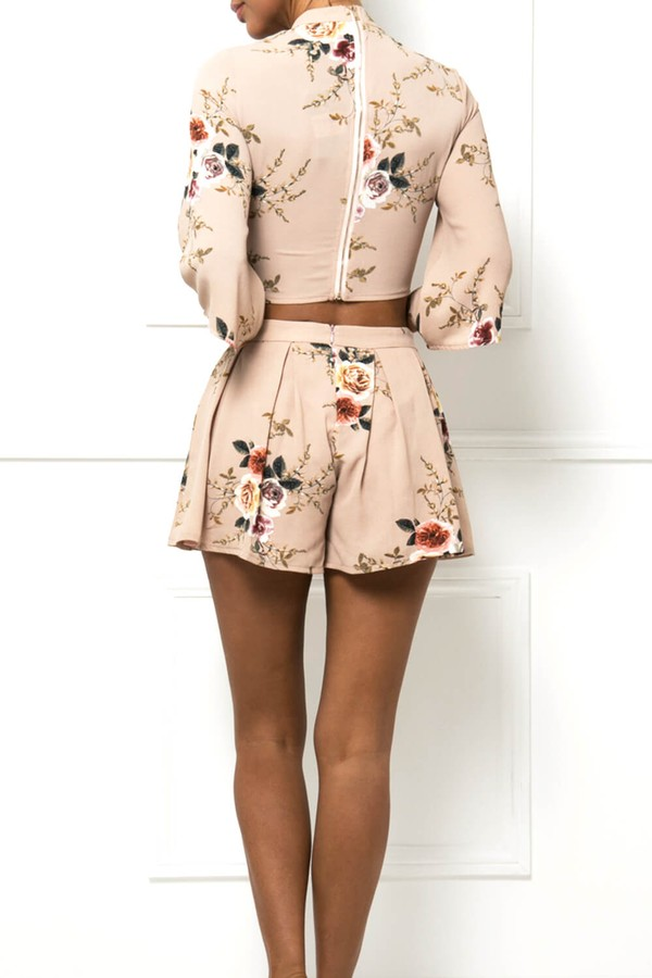 Thea Floral Two-Piece in Apricot