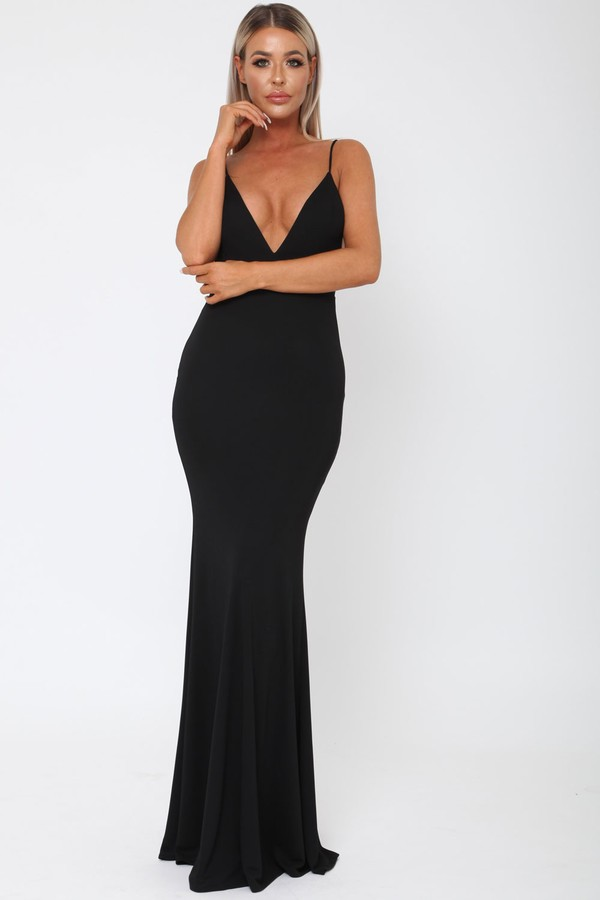 Yasmine Long Gown in Black