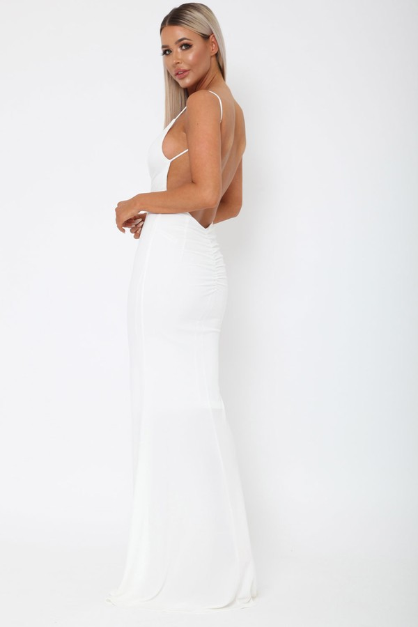 Yasmine Long Gown in Ivory